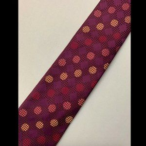 Ben Sherman Men's Purple Polka Dot Tie 100% Silk